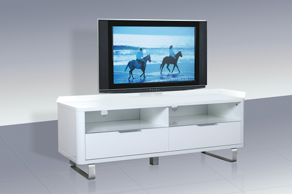 Accent White High Gloss Low Sideboard/TV Unit